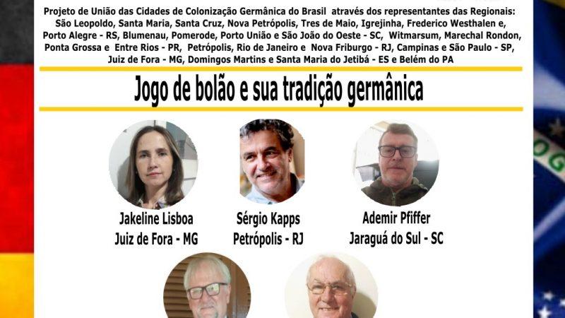 Live   Jogo de bolão e sua tradição germânica   > 2ª.-feira, 07 06 2021, 19h.   www.facebook.com/feccab