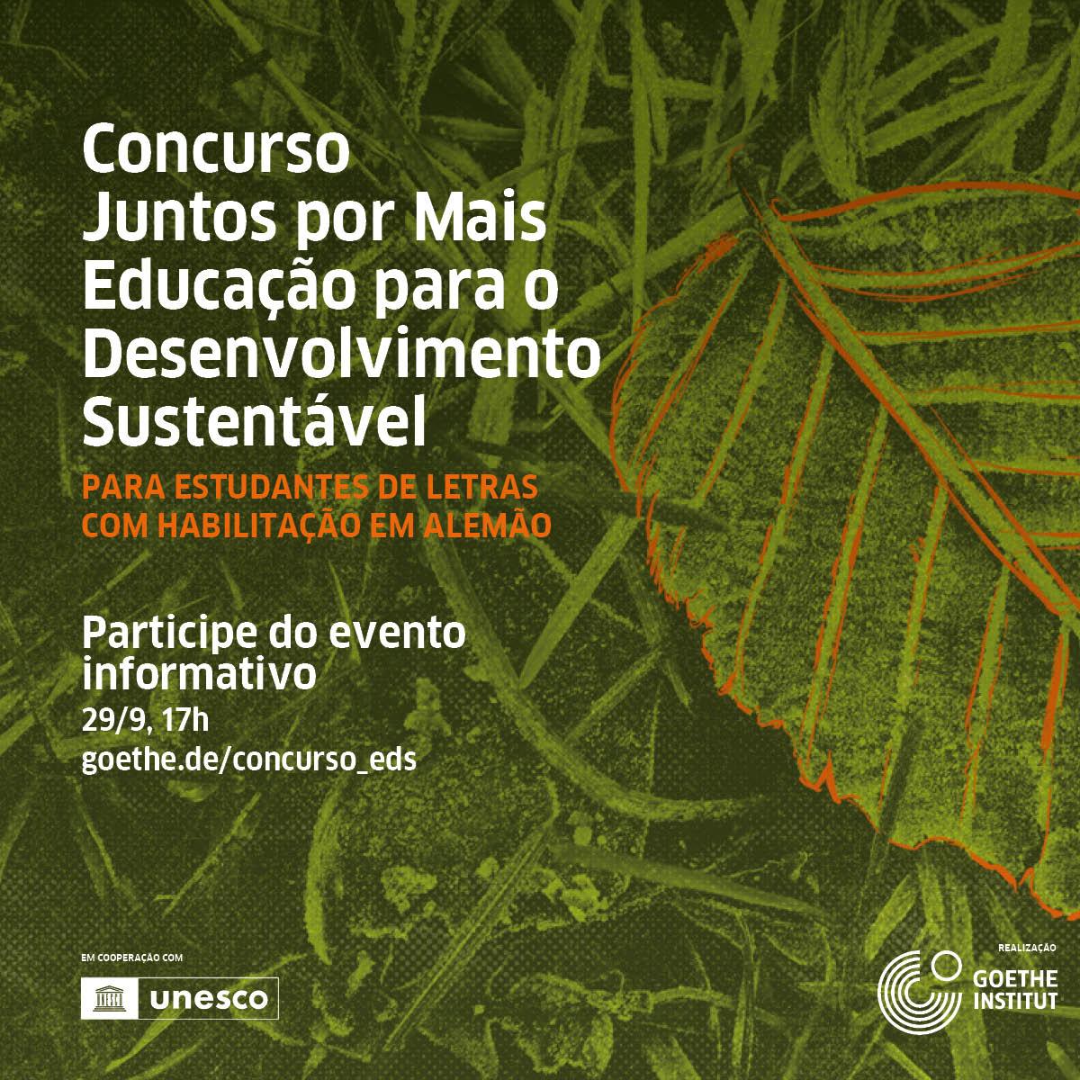 Concurso Juntos por Mais Educação para o Desenvolvimnto Sustentável