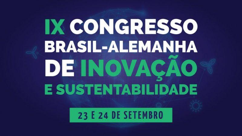O 9º Congresso Brasil-Alemanha de Inovação e Sustentabilidade será realizado virtualmente entre os dias 23 e 24 de setembro