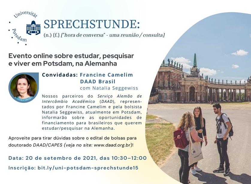 Conheça o evento online sobre estudar, pesquisar e viver em Potsdam, na Alemanha!