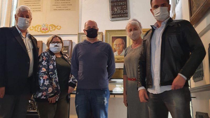 08.09 – Visita do Deputado  Fabio Ostermann ao Museu Histórico Visconde de São Leopoldo, RS.
