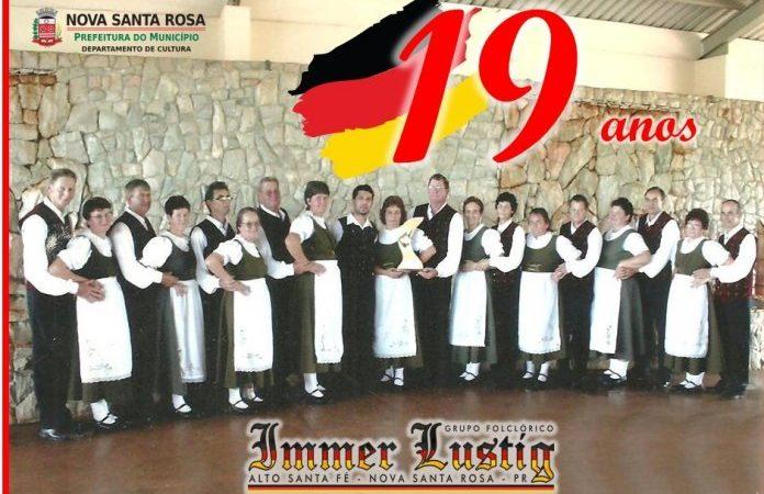 Grupo Folclórico da 3ª Idade de Dança Alemã Immer Lustig comemora 19 anos de formação