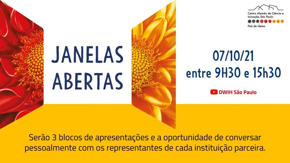 """No dia 7 de outubro, o Centro Alemão de Ciência e Inovação (DWIH) São Paulo promoverá seu """"Dia de Janelas Abertas""""."""